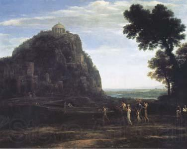 Claude Lorrain View of Delphi with a Procession (mk17)