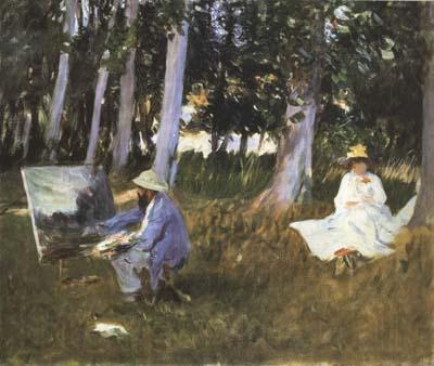 John Singer Sargent Claude Monet Painting at the Edge of a Wood (mk18)