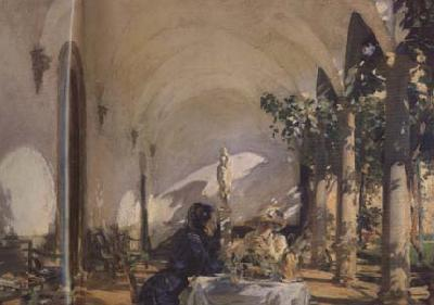 John Singer Sargent Breakfast in the Loggia (mk18)