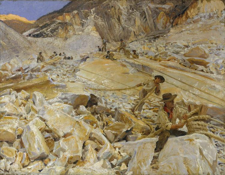 John Singer Sargent Bringing Down Marble from the Quarries to Carrara (mk18)