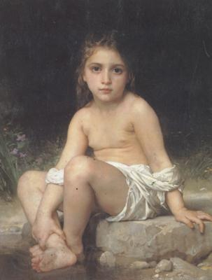 Adolphe William Bouguereau Child at Bath (mk26)