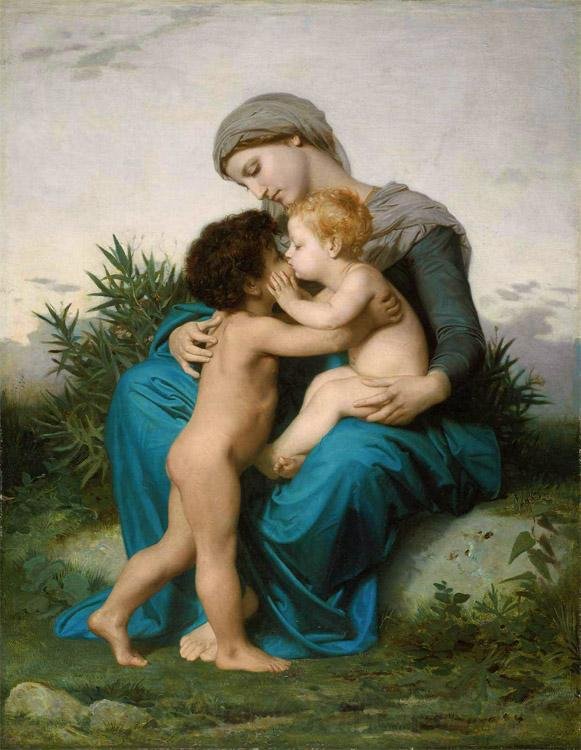 Adolphe William Bouguereau Fraternal Love (mk26)