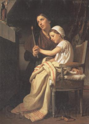 Adolphe William Bouguereau The Thank Offering (mk26)