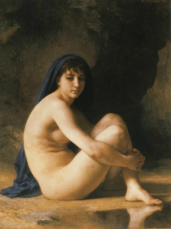 Adolphe William Bouguereau Seated Nude (mk26)