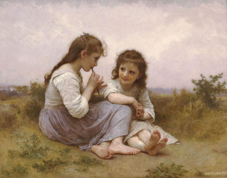 Adolphe William Bouguereau Childhood Idyll  (mk26)