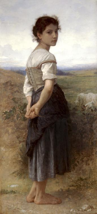 Adolphe William Bouguereau The Young Shepherdess (mk26)
