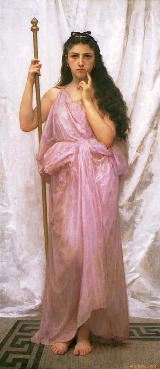 Adolphe William Bouguereau Young Priestess (mk26)