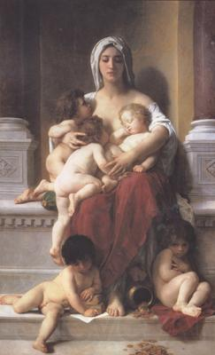 Adolphe William Bouguereau Charity (mk26)