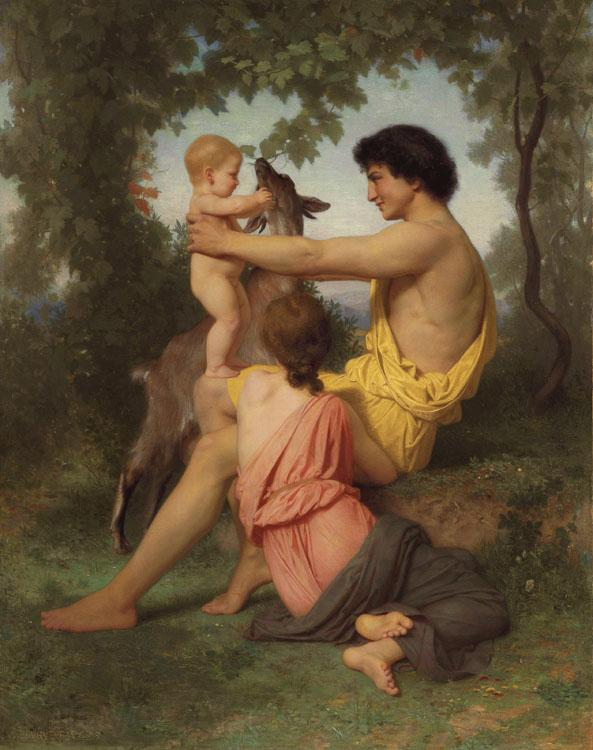 Adolphe William Bouguereau Idyll:Family from Antiquity (nn04)