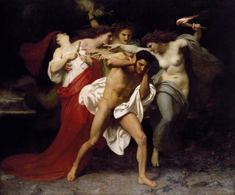 Adolphe William Bouguereau Orestes Pursued by the Furies (mk26)