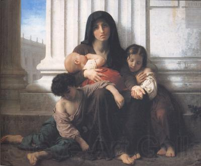 Adolphe William Bouguereau Indiget Family (mk26)