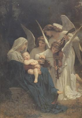 Adolphe William Bouguereau Song of the Angels (mk26)