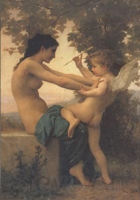 Adolphe William Bouguereau Young Girl Defending Herself against Eros (mk26)