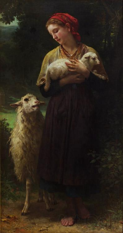 Adolphe William Bouguereau The Shepherdess (mk26)