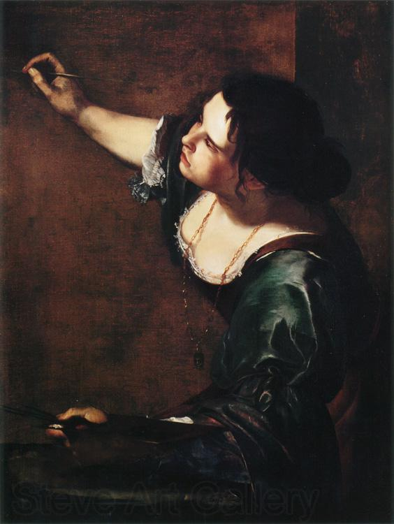Artemisia  Gentileschi Self-Portrait as the Allegory of Painting (mk25)