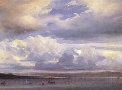 Johann Jakob Ulrich Clouds over the Sea (nn02)