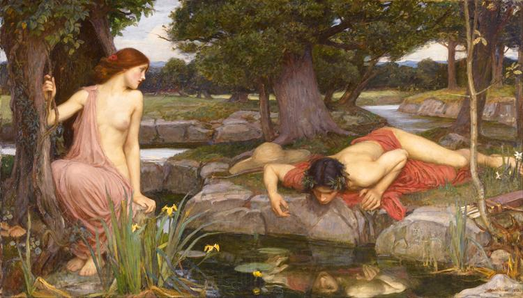 John William Waterhouse E-cho and Narcissus (mk41)