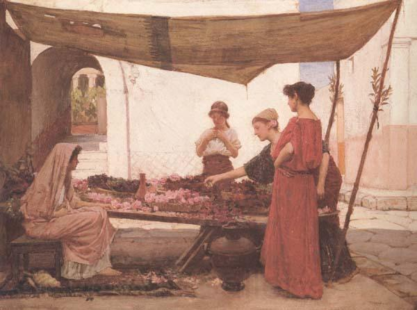 John William Waterhouse A Flower Stall (mk41)
