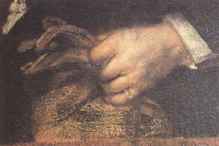 REMBRANDT Harmenszoon van Rijn Details of The Sampling Officials of the Amsterdam Drapers' Guild (mk33)