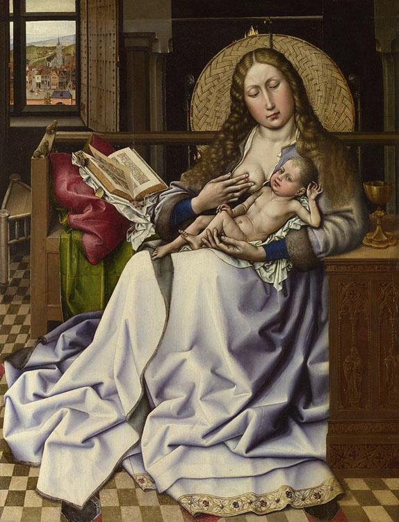 Robert Campin The Virgin and Child before a Fire-screen (nn03)