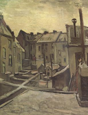 Vincent Van Gogh Backyards of Old Houses in Antwerp in the Snow (nn04)
