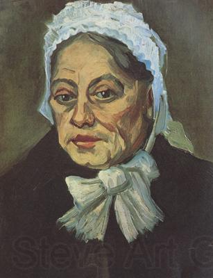 Vincent Van Gogh Head of an Old Woman with White Cap (nn04)