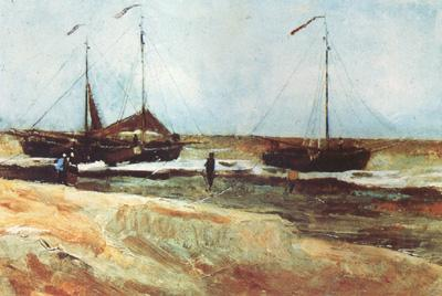 Vincent Van Gogh Beach at Scheveningen in Calm Weather (nn04)