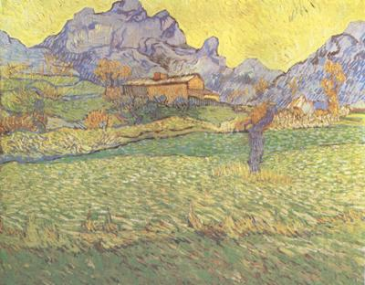 Vincent Van Gogh A Meadow in the Mounatains:Le Mas de Saint-Paul (nn04)
