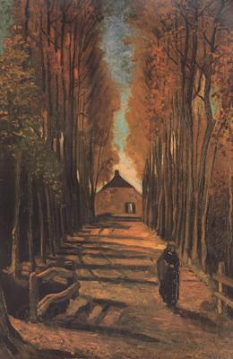 Vincent Van Gogh Avenue of Poplars in Autumn (nn04)