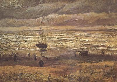 Vincent Van Gogh Beach at Scheveningen in Stormy Weather (nn04)