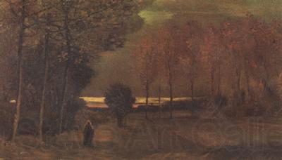 Vincent Van Gogh Autumn Landscape at Dusk (nn04)