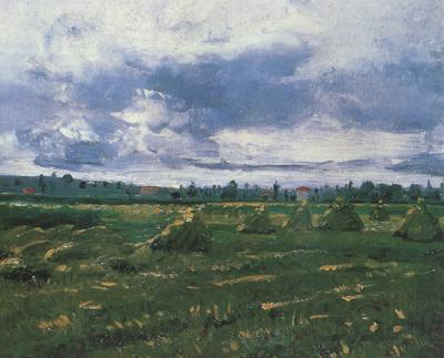Vincent Van Gogh Wheat Fields with Stacks (nn04)