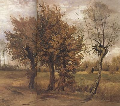 Vincent Van Gogh Autumn Landscape with Four Trees (nn04)