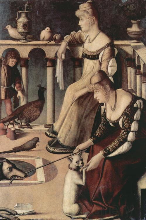 Vittore Carpaccio Two Venetian Ladies on a Balcony (nn03)