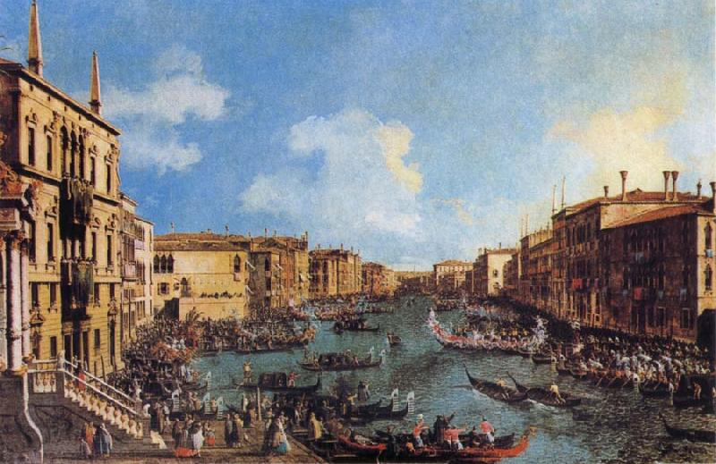 Canaletto Regatta on the Canale Grande