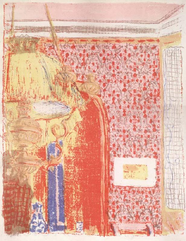 Edouard Vuillard Interior with pink wallpaper II