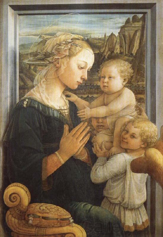 Fra Filippo Lippi Madonna and Child with Two Angels
