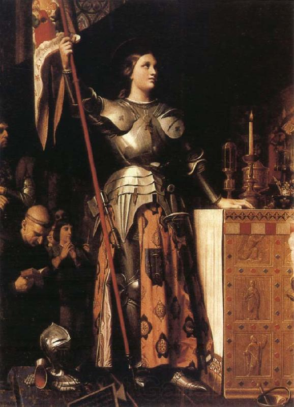 Jean-Auguste Dominique Ingres Joan of Arc at the Coronation of Charles VII in Reims