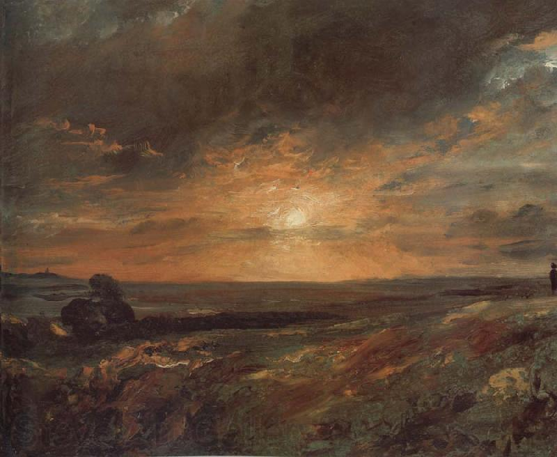 John Constable Hampsted Heath,looking towards Harrow at sunset 9August 1823