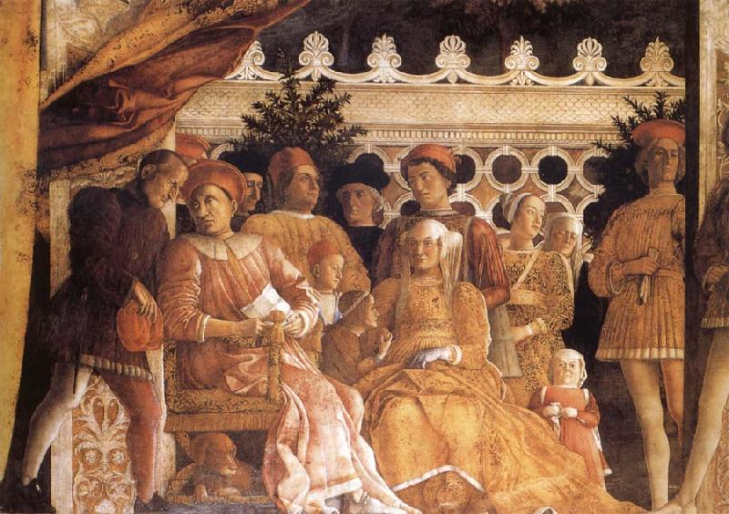 MANTEGNA, Andrea The Gonzaga Family and Retinue finished
