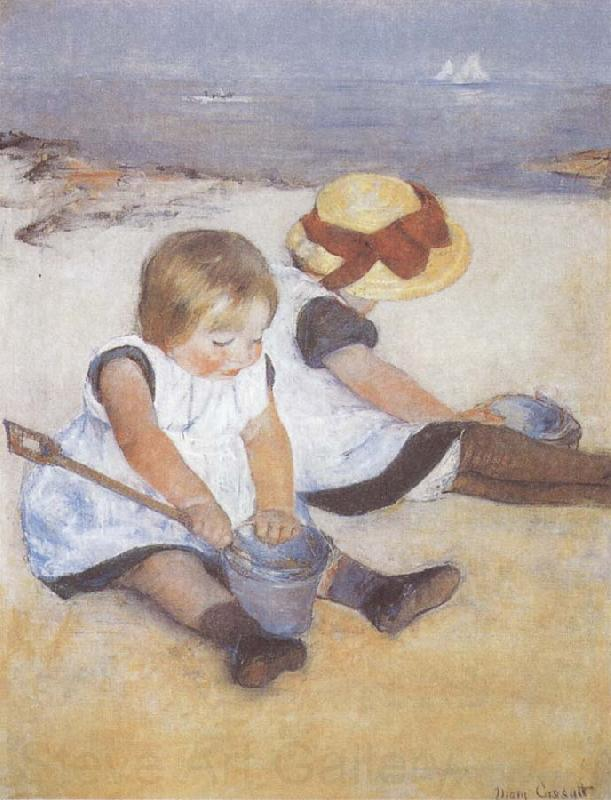 Mary Cassatt Two Children on the Beach