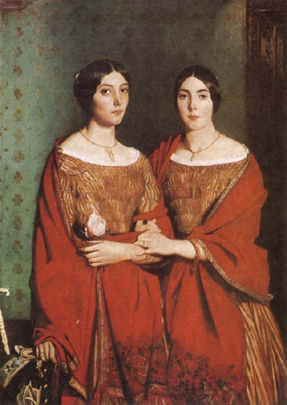 Theodore Chasseriau The Sisters of the Artist